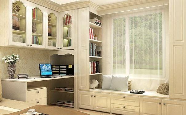 欧式书房飘窗柜设计