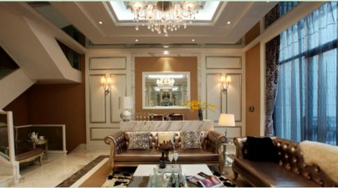 南昌玫瑰城 混搭简欧风格室内装修设计效果图