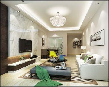中山世纪新城 四居室简约风格家庭装修效果图