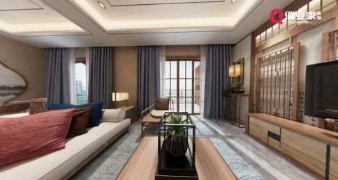 重庆巫山|丽景尚城|135平米四居室|中式风格|设计效果图