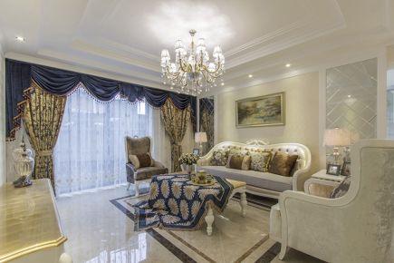世贸龙湾 三居室美式装修效果图欣赏