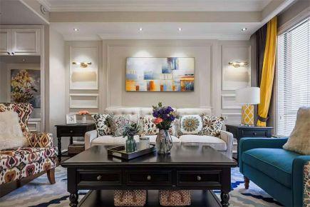 【联投龙湾】三居室美式风格装修案例图