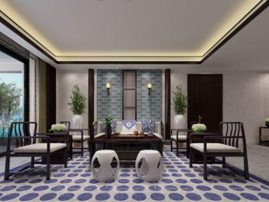 现代中式家庭装修效果图——雅