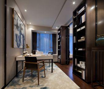 公积金中心四居室中式风格装修效果图