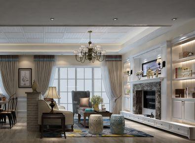 深圳南航明珠花园 三居室美式装修案例欣赏