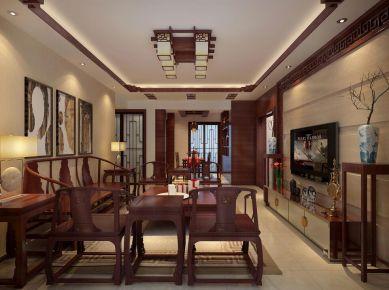 深圳佳兆业广场-中式风格家庭装修案例欣赏