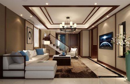 温州下吕浦琴音 中式风格跃层装修设计方案