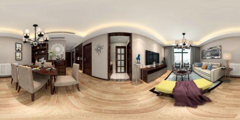 武昌百瑞景 新中式家庭装修设计效果图