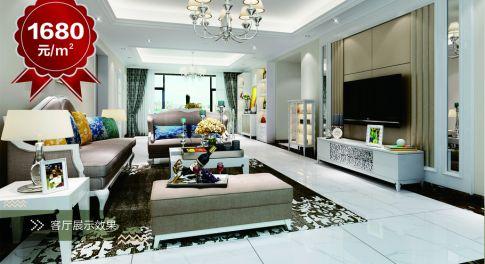 贵阳瑞福花园 西西米亚欧式风格室内装修设计图