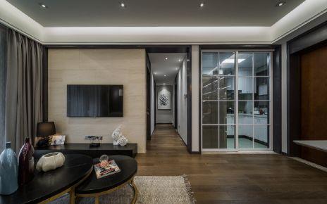 武汉金地自在城 三居室现代风格装修效果图