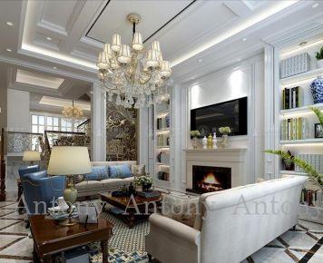 上海南郊中华园300平欧式别墅装修设计方案