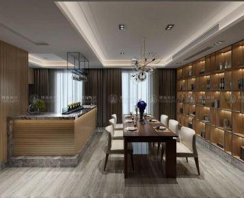 上海青浦泷湾 别墅装修现代风格设计效果图欣赏