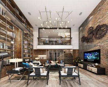 上海臻水岸苑369平美式别墅装修设计效果图
