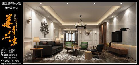 泉州宝珊景峰 四居室美式装修设计效果图
