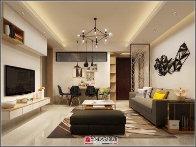 泉州崇德华庭 二居室现代风格装修设计效果图欣赏
