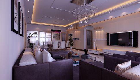 贵阳世纪南山小区  现代简约家庭装修设计效果图