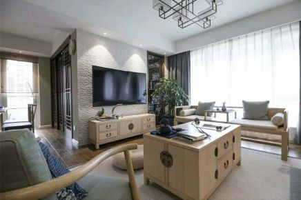 宁波公馆6号 135㎡新中式家装设计效果图