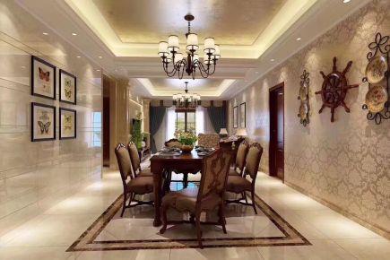 重庆生活家装饰 150平美式风格家装设计效果图