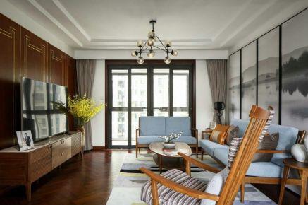 重庆生活家装饰 130平新中式风格家庭装修效果图