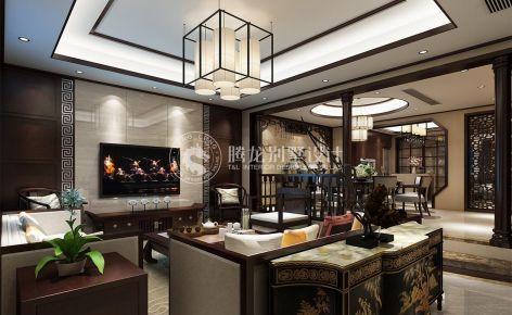 上海丝庐雅苑 250平别墅装修中式设计效果图