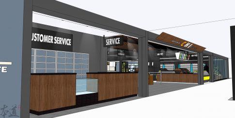武汉光谷世贸大厦商铺装修  高端创意超市装修设计效果图
