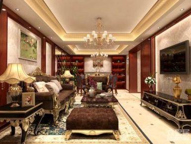 温州古北长宁区荣华东道三居室欧式装修设计效果图