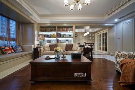 温州小美式风格三居室装修效果图