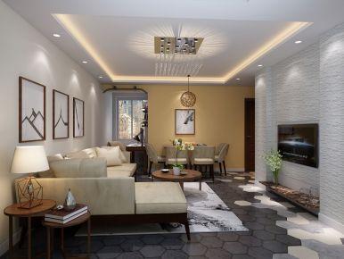 青岛十五大街  二居室简约风格装修设计效果图