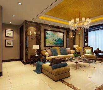 石家庄叠山苑 三居室中式风格家庭装修设计案例