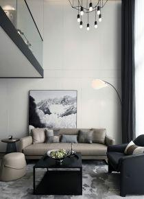 石家庄名门华都 loft风格两居室装修设计效果图