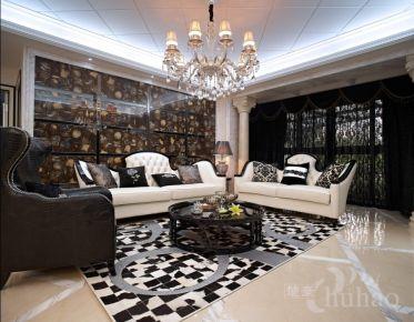 温州瑞嘉佳园简约欧式风格三居室装修效果图