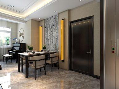 青岛东海花苑 二居室中式风格装修设计效果图