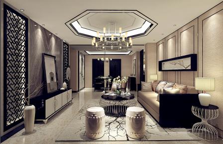 青岛绍兴路66号 三居室中式风格家庭装修设计