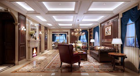 温州鹿城区美式风格家庭装修设计效果图
