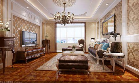 青岛依山半岛 三居室欧式风格家庭装修效果图