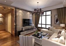 东莞中信森林湖 现代风格三居室装修设计效果图