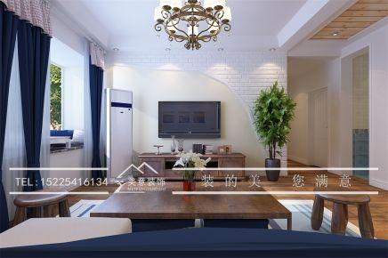 洛阳翰林院 三居室地中海风格装修设计效果图