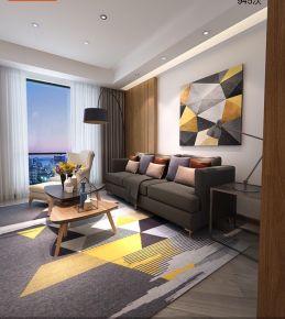 温州金茂 三居室现代风格装修设计效果图