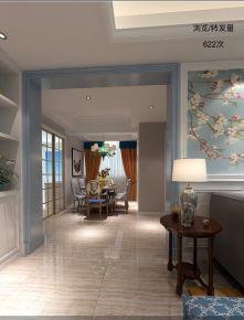 温州泰源景园 二居室美式风格家庭装修设计