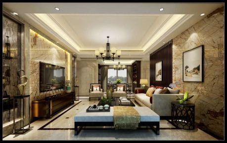 珠海优越香格里 新中式风格家庭装修设计
