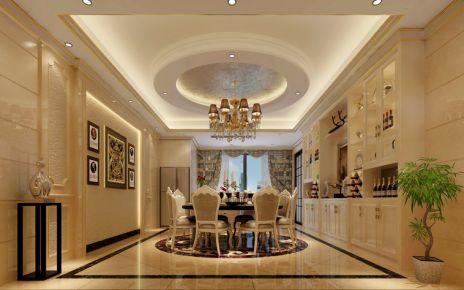 广州剑桥郡-欧式风格245平米家庭装修设计效果图