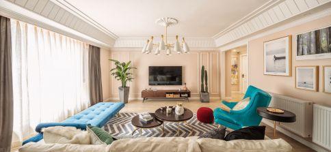 武汉江南新天地  美式风格三居家庭装修设计效果图