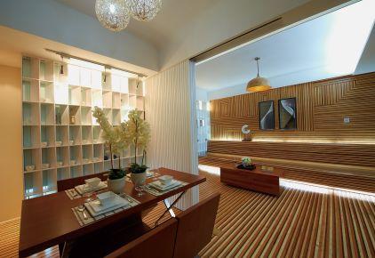 南昌江南水都 随意时光三居室中式装修设计效果图
