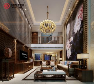 福州保利香槟国际 禅味意蕴,420m²复式中式装修