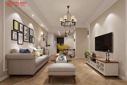 福州融侨悦城13#**05 三居室美式风格装修设计