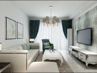 中山剑桥郡2-02 三居室简欧风格装修设计效果图