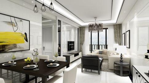 中山德正尚品03户型 三居室现代简约风格装修设计