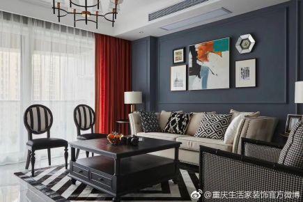 重庆生活家装饰  国博城120平现代风格装修设计