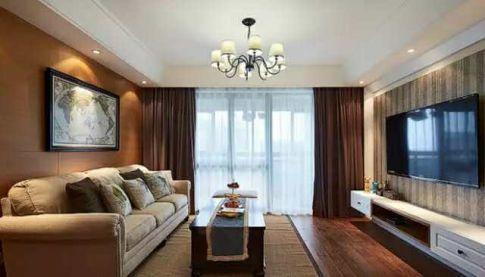 宁波荣安香园2期 136平米美式风格装修