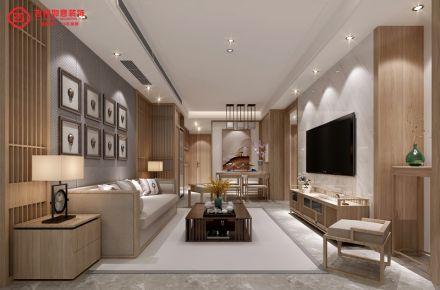 福州保利香槟国际26#02 二居室中式风格装修设计效果图